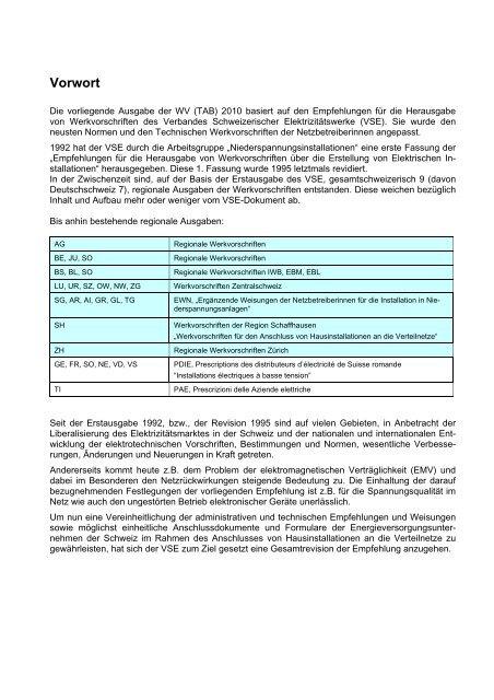 Technische Werkvorschriften - EBL