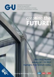 BAU 2013, Munich January 14 – 19, 2013 ... - G-U Hardware