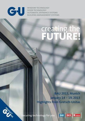 BAU 2013, Munich January 14 – 19, 2013 ... - G-U Hardware