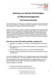 Andreas Omasits, Nutzung von Internet-Technologien im ... - KMA