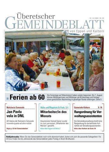 Jan Pavlu vola in DNL - Gemeinde Eppan