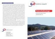 Fotovoltaikanlage - Elektra Sissach
