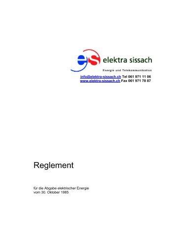 Reglement - Elektra Sissach