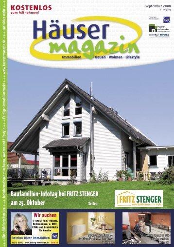 Baufamilien-Infotag bei FRITZ STENGER - Häusermagazin