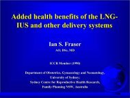 Added health benefits of the LNG-IUS - Population Council