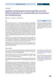 444 BGB Arglistig verschwiegener Sachmangel ... - Alpmann Schmidt