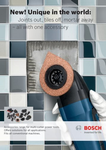 New! Unique in the world: - Bosch