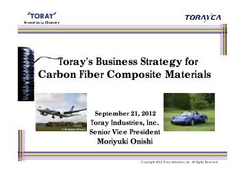 Toray's Business Strategy for Carbon Fiber Composite Materials
