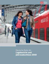 Deutsche Bahn AG Lagebericht und Jahresabschluss 2010