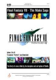 Final Fantasy VII Seite 1 The Mako Saga - Band 2 Seite ... - Squareport