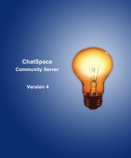 Community Building with ChatSpace Server Manual