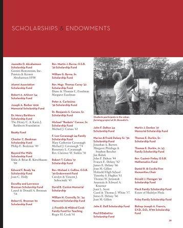 39 Scholarships & Endowments