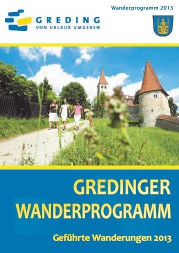 Wanderprogramm 2013 - Stadt Greding