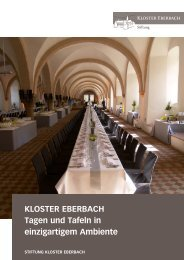 Bankettmappe 2012 (PDF, 7,3 MB) - Kloster Eberbach