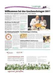 bei den Geschmackstagen 2011! - Heidezeitung