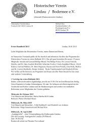 Historischer Verein Lindau / Bodensee e.V. - Museumsverein Lindau