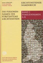 Band 3 - Historischer Verein für das Fürstentum Liechtenstein
