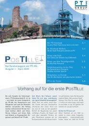 Ausgabe 1 - PTI-Generalplanungs-AG