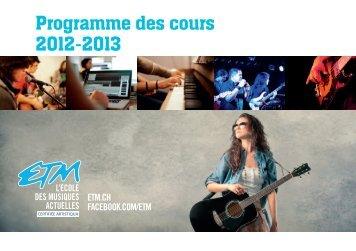 cliquez ici - Ecole des technologies musicales (ETM)