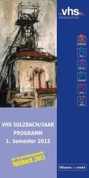 das neue Programmheft zum Download - Stadt Sulzbach/Saar