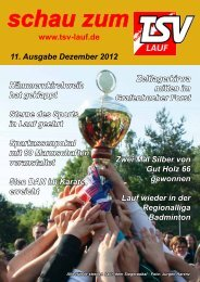 Download der gesamten Vereinszeitung als pdf-Datei - TSV Lauf