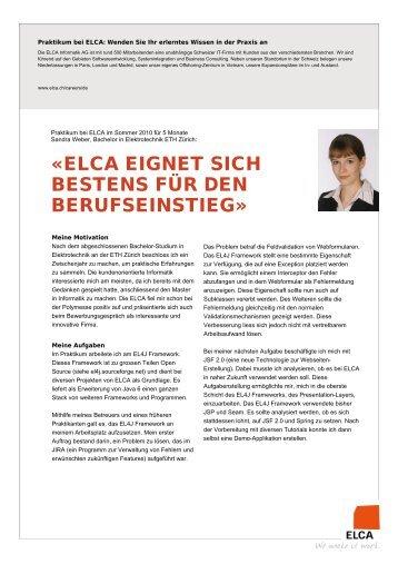 Portrait Sandra Weber (PDF, 61KB) - ELCA