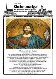 Kirchenanzeiger 24. November - Pfarrverband Dorfen