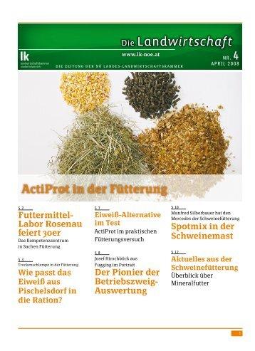 ActiProt in der Fütterung (LK 04/2008)