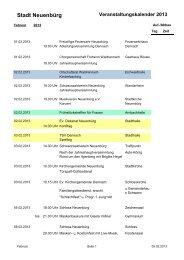 Veranstaltungskalender 2013 Feb. bis Sep. - Neuenbürg