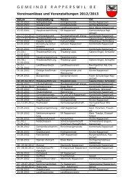 Vereinsanlässe 2012/2013