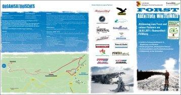 Flyer Aktionstag Forst am Feldberg - Original Schwarzwald Blog