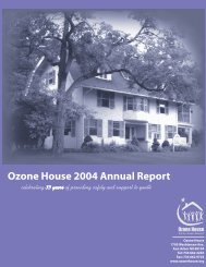 Ozone House 2004 Annual Report