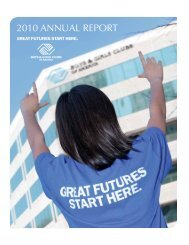 2010 ANNUAL REPORT - Boys & Girls Clubs of America