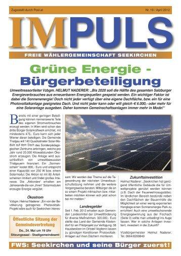 IMPULS - Freie Wähler Seekirchen