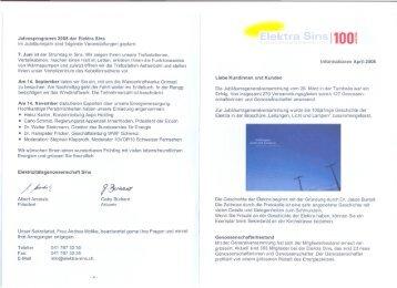 Jubiläumsprogramm 2008 / neue Tarife - Elektra Sins