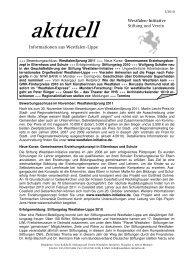 Stiftung und Verein - Westfalen Initiative