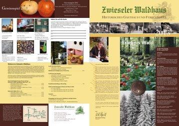 Erlebnis Wald - Zwieseler Waldhaus