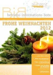 FROHE WEIHNACHTEN 2012 - St. Vinzenz Heim