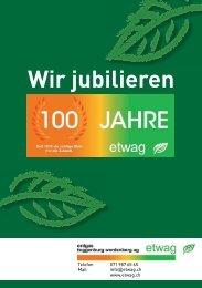 Absatz- und Umsatzentwicklung - erdgas toggenburg werdenberg ag