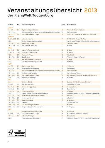 2013 Veranstaltungsübersicht inkl. Kursprogramm als PDF-Dokument