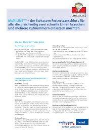 MultiLINEISDN – der Swisscom Festnetzanschluss für alle, die ...