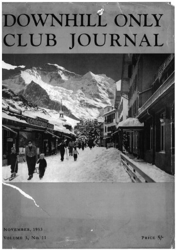 DOWNHILL ONLY CLUB JOURNAL - the DHO