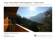 Val d'anniviers, Zinal, Chalet Telestart A - Investors in Property