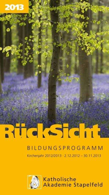 Natur 15. – 17.03.2013 - Katholische Akademie Stapelfeld