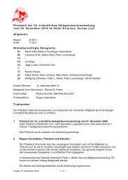 Protokoll der 34. ordentlichen Delegiertenversammlung ... - Ipms.ch