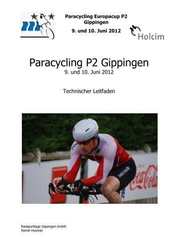 Technischer Leitfaden - Radsporttage Gippingen