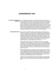 jahresbericht 2001 - Zürcher Hoteliers, Regionalverband Zürich und ...
