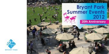 Download the 2012 Summer Events Brochure - Bryant Park