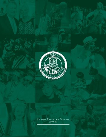 Annual Report of Donors 2009-10 - Pine Crest School