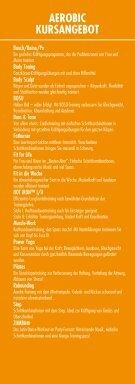 AEROBIC KURSPROGRAMM - eurofit - Seite 2